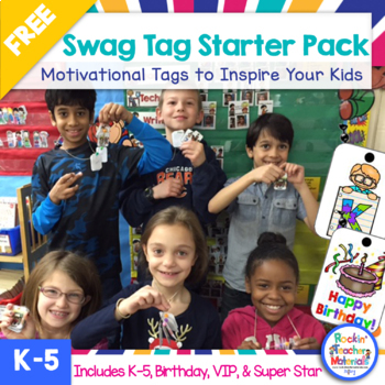 SWAG TAGS [Brag Tags] for Kids with Swagger Freebie Starter Pack
