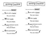 SWAG Writing checklist
