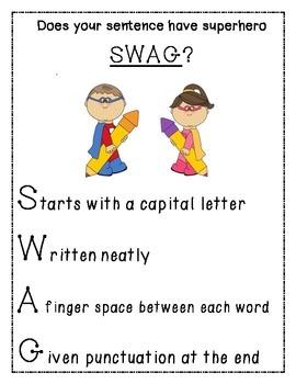 SWAG- writing sentences correctly
