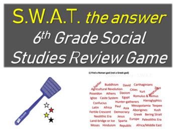 SWAT - 6th grade social studies review game