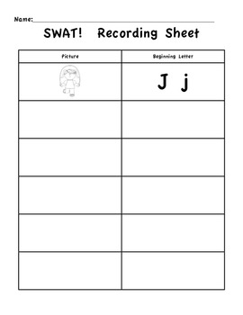 ABC SWAT!  - Beginning sound - letter matching game (Common Core Aligned)