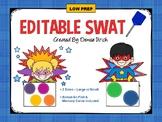 Blank, Editable SWAT Activity (Template) - Cheerful Circles Theme