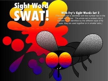 SWAT Flyswatter game w/Fry's 1st and 2nd list of sight words Fluency activity