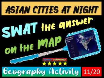 Map Of Asia Review Game.Swat Geography Review Game 11 Asian Cities At Night 20 Questions