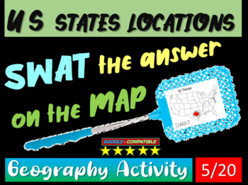 SWAT GEOGRAPHY REVIEW GAME 5 - U.S. States locations (20 q