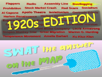 SWAT Review Game - 1920s (25 questions)