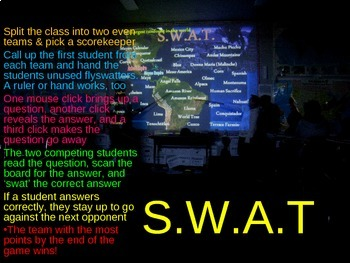 SWAT Review Game - Colonies (30 questions)