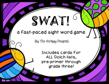 SWAT Sight Words Game (Dolch): Pre-Primer Through Grade 3