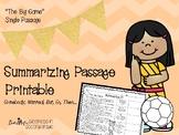 SWBST Summarizing Passage