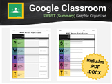 SWBST (Summary) - Graphic Organizer - For Google Classroom & Docs
