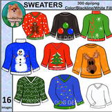 SWEATER CLIP ART, Graphics, 16 images