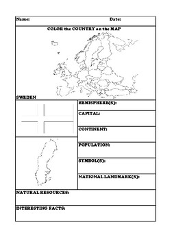SWEDEN COUNTRY RESEARCH WORKSHEET