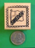 SWEDEN Counry/Passport Rubber Stamp