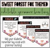 SWEET FOREST FOX THEMED CLASSROOM DECOR: GRAMMAR BUNTING