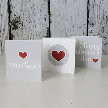 SWEET LOVE Valentine Printable Folding Cards