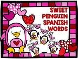 SWEET PENGUIN SPANISH WORDS- ESPANOL - PALABRAS- SILABAS