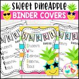 SWEET Pineapple Binder Covers
