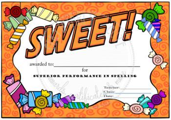 SWEET! Spelling Award