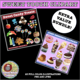 SWEET TOOTH BUNDLE CLIPART, STICKERS