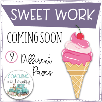 SWEET WORK Coming Soon-Ice Cream