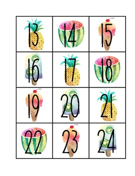 SWEET Watercolor Calendar Numbers *Classroom Organization*