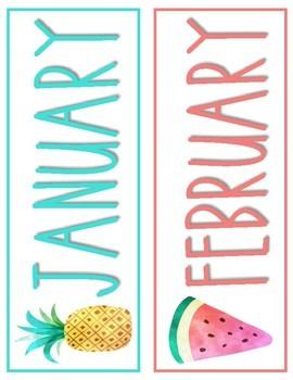 Sweet Watercolor Calendar Months!