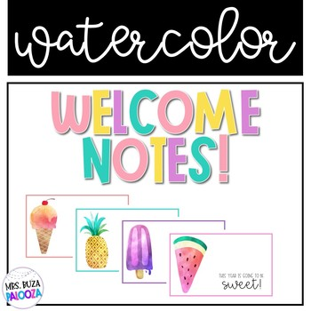 SWEET Watercolor Welcome Notes