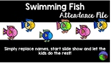 SWIMMING FISH attendance file - touch the fish and it swims away!