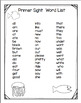 SWIMMY PRIMER  DOLCH WORD CARDS