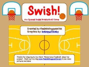 SWISH! An Opened Ended Basketball Game