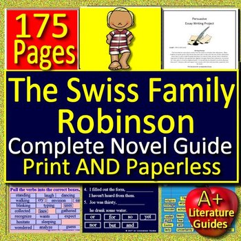 The Swiss Family Robinson Novel Study Unit Print AND Paperless Google Ready