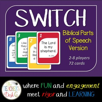 SWITCH Biblical Parts of Speech Card Game