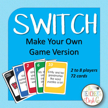 SWITCH Make Your Own Game (Editable)