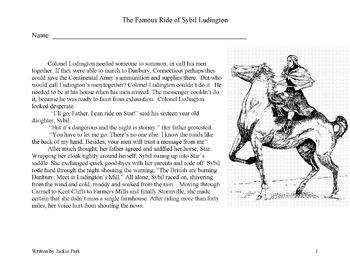 History SYBIL LUDINGTON AMERICAN REVOLUTION 10 Main Idea, Details, Inference Que
