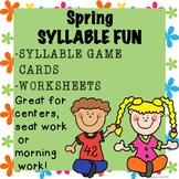 SYLLABLE Activities Game Cards Worksheets Printables Sprin