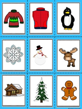 SYLLABLE Activities Game Cards Worksheets Printables Winter theme Elementary