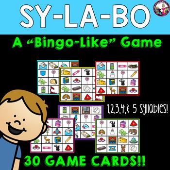 SYLLABLE BINGO-Like game!