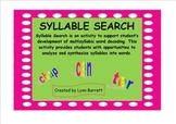 SYLLABLE SEARCH - A SmartBoard Syllabication Activity