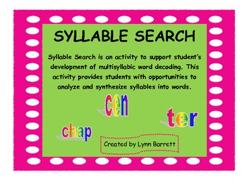 SYLLABLE SEARCH PDF FILE