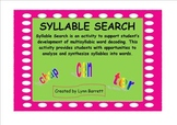 SYLLABLE SEARCH PowerPoint File