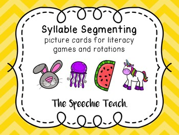 SYLLABLE SEGMENTING PICTURE CARDS