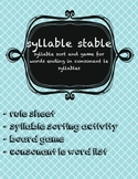 SYLLABLE STABLE