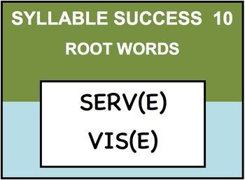 SYLLABLE SUCCESS 10  - PREFIXES, SUFFIXES, ROOT WORDS