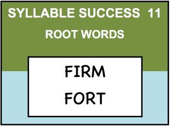 SYLLABLE SUCCESS 11  - PREFIXES, SUFFIXES, ROOT WORDS