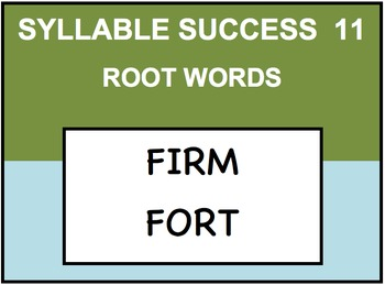 SYLLABLE SUCCESS 11  - PREFIXES, SUFFIXES, ROOT WORDS
