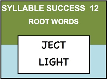 SYLLABLE SUCCESS 12 - PREFIXES, SUFFIXES, ROOT WORDS