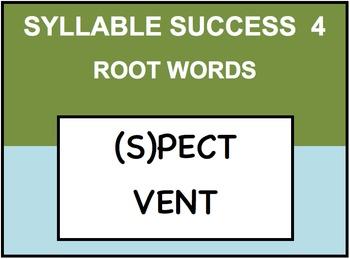 SYLLABLE SUCCESS 4  - PREFIXES, SUFFIXES, ROOT WORDS
