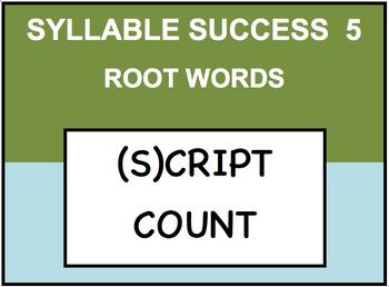 SYLLABLE SUCCESS 5  - PREFIXES, SUFFIXES, ROOT WORDS