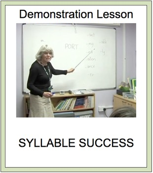 SYLLABLE SUCCESS 6  - PREFIXES, SUFFIXES, ROOT WORDS