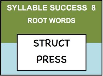 SYLLABLE SUCCESS 8  - PREFIXES, SUFFIXES, ROOT WORDS